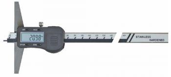Digital depth caliper with point