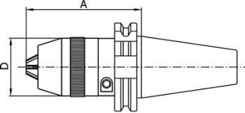 Kurzbohrfutter DIN 69871 - Standard, SK50 1-16mm