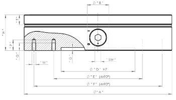Magnetspannfutter, Typ PMSF, Ø 300 mm