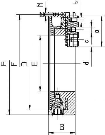 3-Backen-Drehfutter, extragroße Bohrung, Ø=508 mm - STAHL
