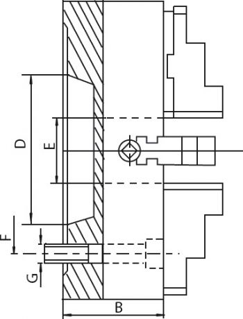 "ZENTRA Independent chuck Ø=1000-15"" mm (55026) - STEEL"