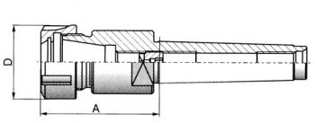 Spannzangenfutter ER, DIN 228 MK 3-ER 20