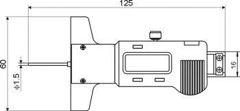 Digital-Tiefen-Messschieber 6048, Messbereich 150x100 mm
