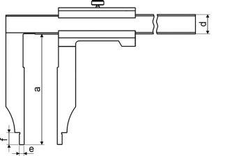 Werkstatt-Messschieber, Messbereich 400 mm, Schnabellänge 100 mm