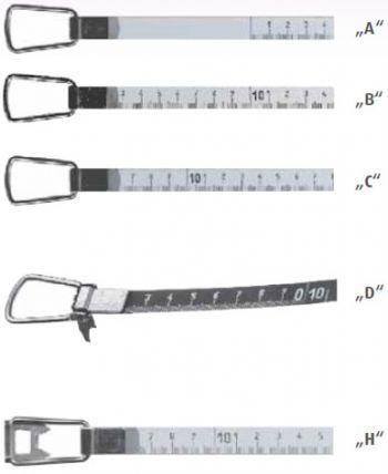 Stahlbandmaß, nach EG-Klasse II, 20 m
