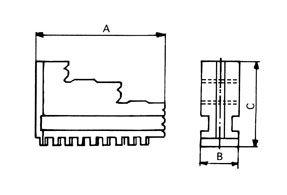 Drehbacken (für BISON/ZENTRA), hart, d=125 mm