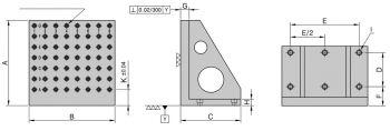 BP21 Aufspannwinkel mit Lochraster, Typ BP 211016