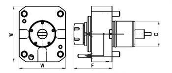 Axial Bohr- und Fräskopf Schaft Ø 60 mm, für MORI SEIKI, ER32, IK