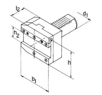 Abstechhalter, d1=40, h2=32mm