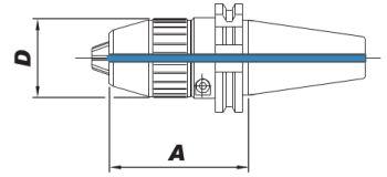 Kurzbohrfutter DIN 69871 - AD, SK40 1-16mm