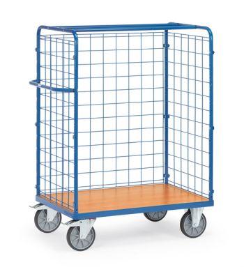 Paketwagen mit Drahtgitterwänden