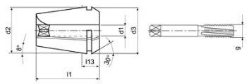 Typ ER32-GB d1=20 x 16 mm