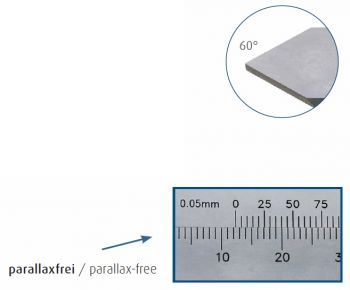 100 mm Tiefen-Messschieber, parallaxfreie Ablesung