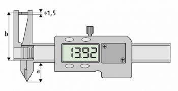 Digitales Messgerät für Innen-, Außen- und Dicken-Messungen