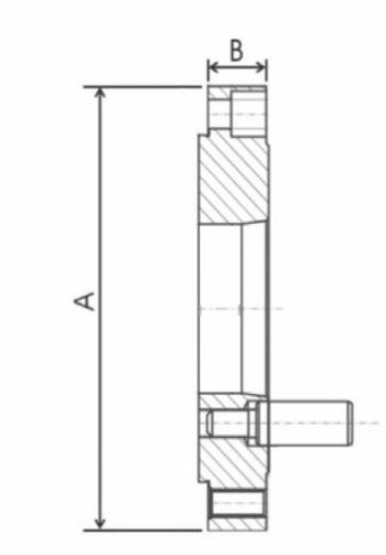 Nach DIN 55029, für Drehfutter mit Feineinstellung