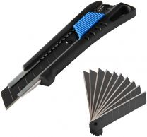 Cutter knife including 13 coated snap-off blades