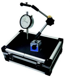 Dial-indicator with magnetic support-set, height 340 mm