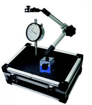 Dial-indicator with magnetic support-set, height 430 mm