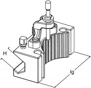 Bohrstahlhalter H, CH 40