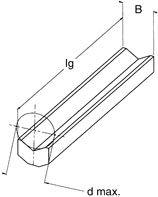 Einlegeprisma P, d max = 25 mm