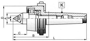 Mitlaufende Drehbankspitze Typ 8815 MK 1