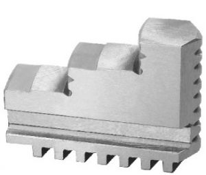 Externally stepped solid jaws, d=125 mm