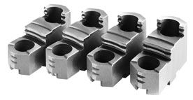 Hardened reversible top-jaws, d=400 mm
