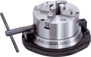 Four-jaw lathe chucks on swivel plate , D=160 mm