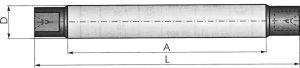 Drehdorn DIN 523 - 8,0