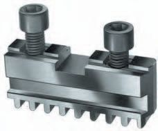 Set of 3 pc. base jaws for RÖHM, Ø=125 mm