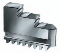 Set of 3 pc. inside solid jaws for RÖHM, Ø=500/630 mm
