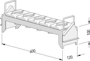 1-stufiges Werkzeugregal WRS für HSK63, inkl. Einsätze
