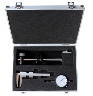 Messuhr + Stativ + Bremsscheiben-Messschieber, Messbereich 0-50 mm
