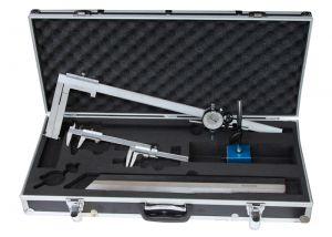 """Messzeug-Satz """"ANALOG"""", 6-teilig, für Autowerkstatt, mit Bremstrommel-Messchieber 50-550 mm"""