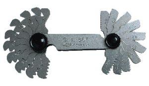 Screw pitch gauge DIN 13/14, Metric-Thread 60°, 20 blades