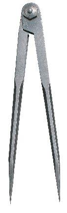 Spitzzirkel mit Schraubenscharnier, Länge 200 mm