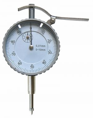 Dial indicator with lift mechanism, range 10 mm, reading 0,01 mm