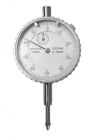 Präzisions-Messuhr mit Spezial-Stoßschutz, DIN 878, Messbereich 10 mm, Ablesung 0,01 mm