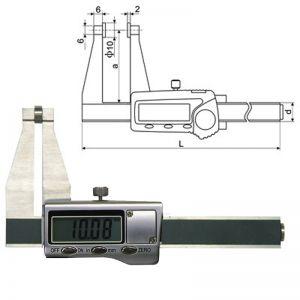 Digital-Messschieber für Blechdicke, Messbereich 50 mm