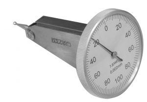 Universal test indicator Ø 40 mm, vertical, range 0,2 mm