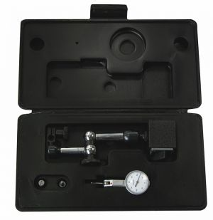 Set of dial test indicator + small univ. dial support, with magnetic base