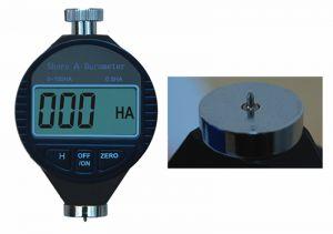 Digital shore durometer, reading (mm) 0,5 HA