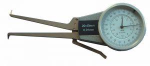 Dial caliper gauge for inside measurement, with dial indicator, range 40-60 mm