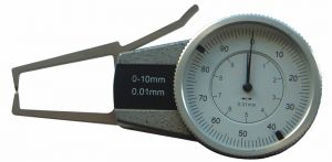 Außen-Schnellmesstaster mit Uhr, Messbereich 0-10 mm