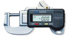 Digital thickness gauge, throat depth 19,7 mm
