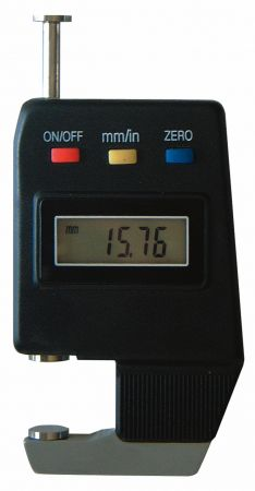 Digital thickness gauge, with disc, throat depth 15 mm