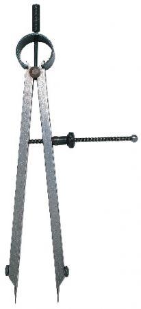 Federzirkel mit auswechselbaren Spitzen, Länge 75 mm