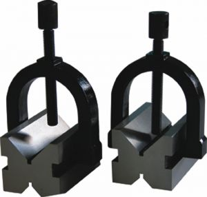V-blocks, with clamp, DIN 876/0, hardened, for shaft Ø 5-20 mm