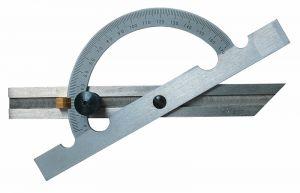 Gradmesser, aus Stahl, mattverchromt, Länge 150 mm