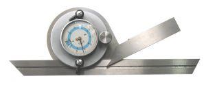 Universal-Winkelmessgerät mit Messuhr, Länge 200 mm